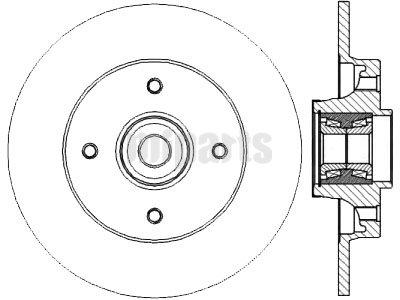 Citroen Brake Disc DF4452,424934,4246Z9,$28.00 at Miparts