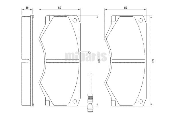Iveco Brake Pad Set, disc brake GDB1248,1908345,1906430