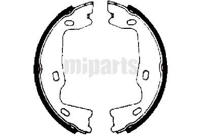 Opel Brake Shoe Set, parking brake FN0519,90349868,4838660
