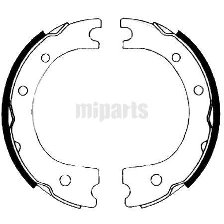 Daihatsu Brake Shoe Set, parking brake 4654025010