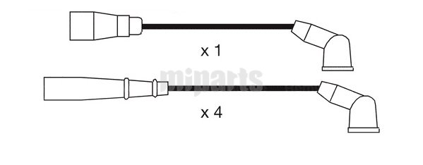 Honda Ignition Cable Kit ZE08-18-140,ZE1118140,ZE2318140
