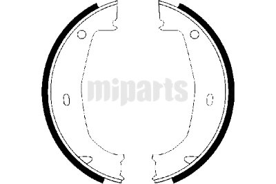 BMW Brake Shoe Set, parking brake 34416761289,34411160924