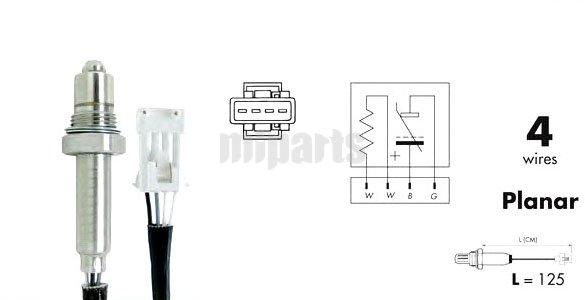 Fiat Oxygen Lambda Sensor O2 0258006196,180915 $32.00