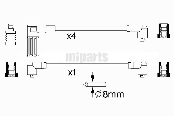 Fiat Ignition Cable Kit 7716094, at Miparts