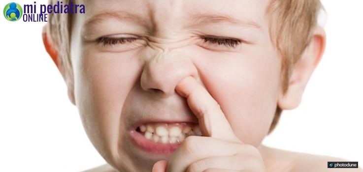 La nariz taponada en niños