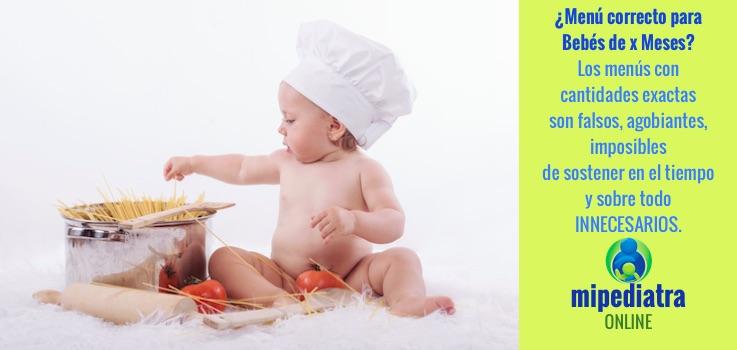 Menú para Bebé de x meses