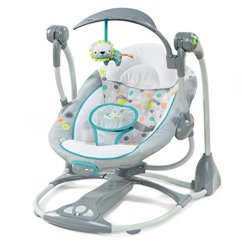 Hanging Chair For Baby Antique Commode 13 Best Swing Reflux Small Spaces More 2019 Mippin Travel 12 Ingenuity Convert Me Ridgedale 2 Seat