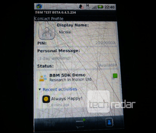 Blackberry Messenger para Android