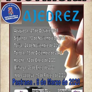 XV CIRCUITO PROVINCIAL DE AJEDREZ PASTRANA