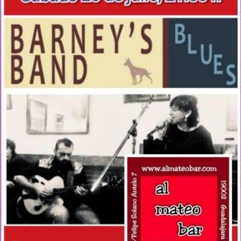 Actuación en directo de Barney's Band Blues