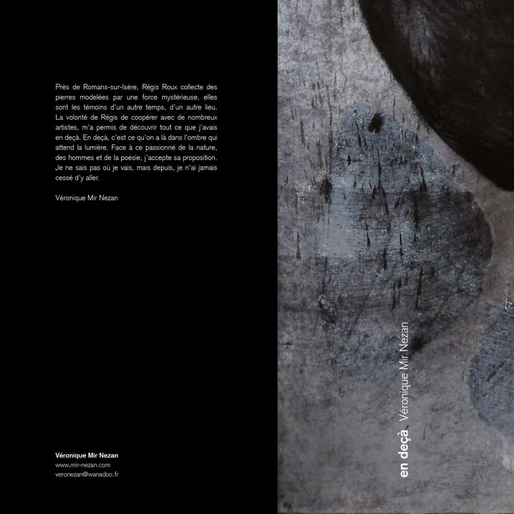 Dos de Couverture en deçà Mir Nezan Artiste Plasticien Val-de-Marne 94 (2)