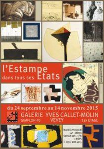 affiche galerie YCM 2015 - Artiste Plasticienne Noiseau & Val de Marne 94