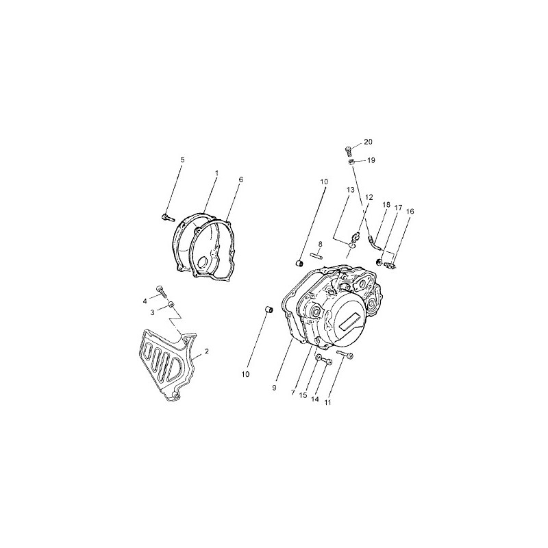 Coude Guide Cable Pompe a Huile Minarelli AM6 origine (18