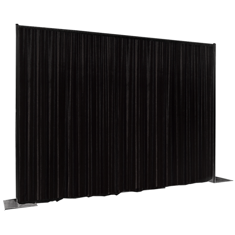 rideaux drape velours noir