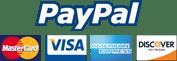PayPal - MasterCard, Visa, American Express, Discover Network