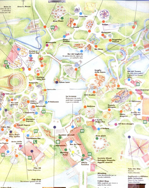 Mappa Mirabilandia 1996