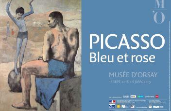Affiche Picasso.Bleu et rose