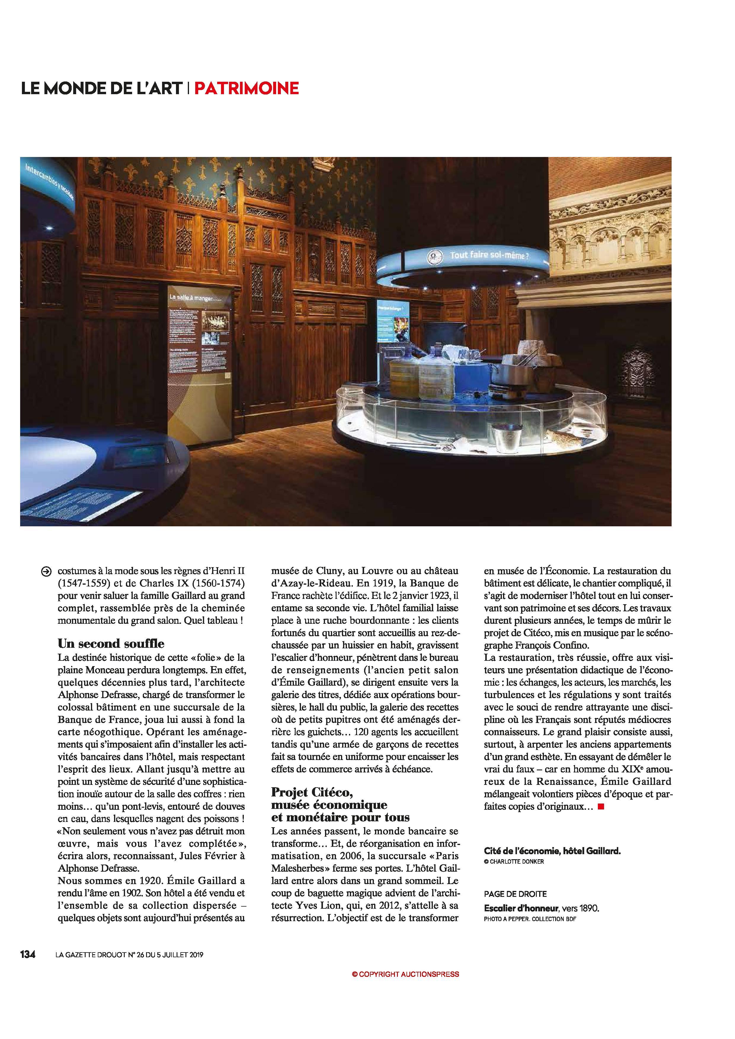 Gazette Drouot 07/2019 page 134