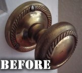 Brass Door Handle Before