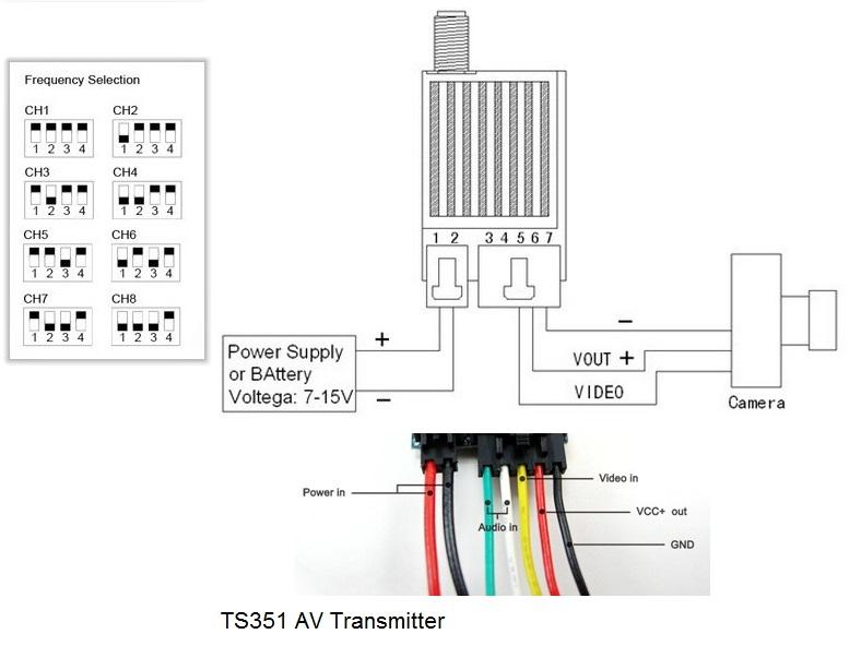 FPV 5.8G 400mW AV Wireless Transmitter TS353