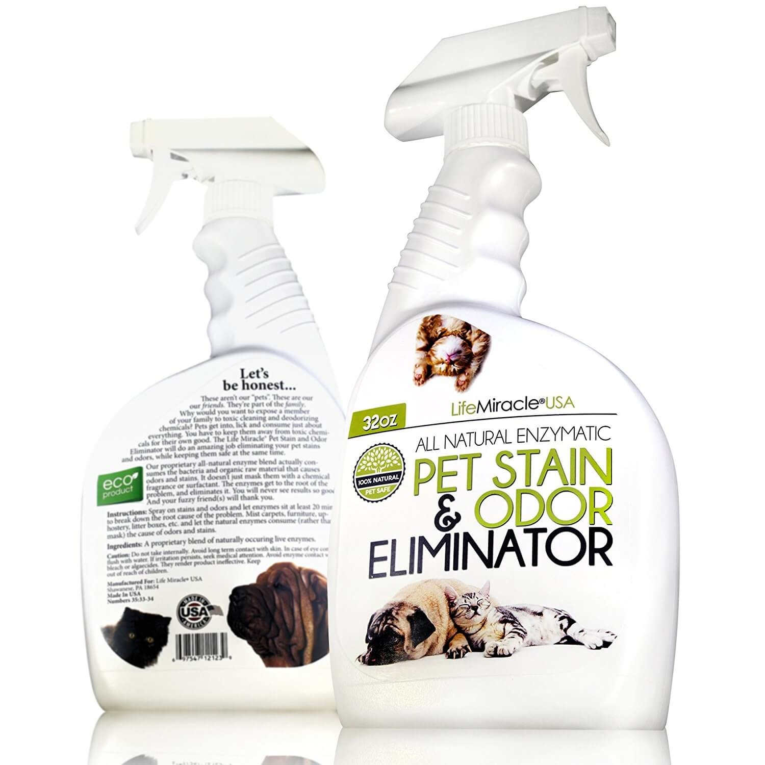natural sofa deodorizer bonded leather reclining pet stain and odor eliminator life miracle health