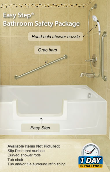 Easy Step Bathroom Safety Package