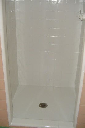 Tile Shower  Shower Pan Refinishing