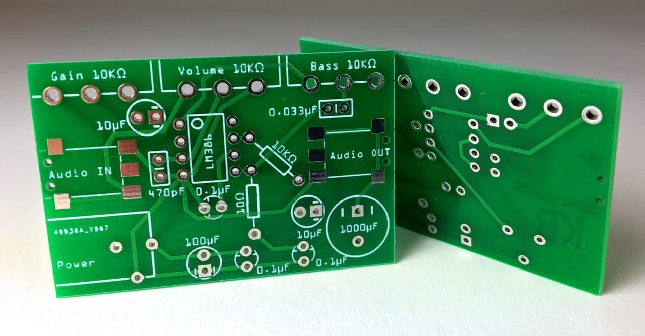 Custom single layer PCB