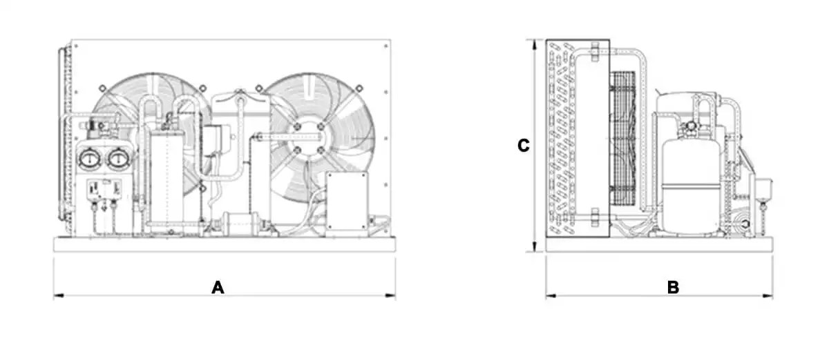 Copeland Condensing Unit-Air cooled, water cooled