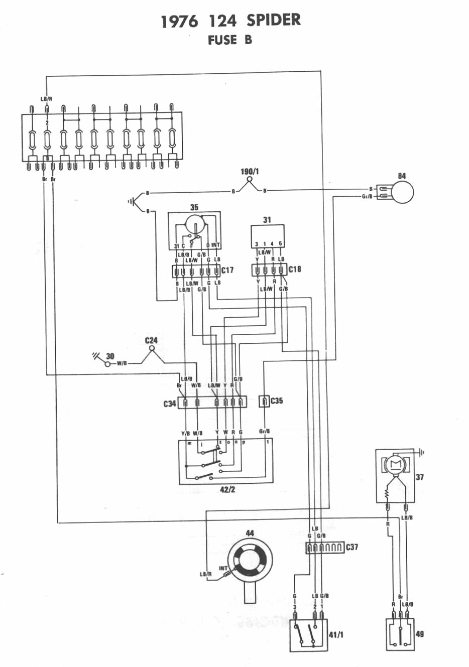 hight resolution of pin fiat spider ignition switch wiring on pinterest wiring diagram 1979 fiat 124 spider wiring diagram
