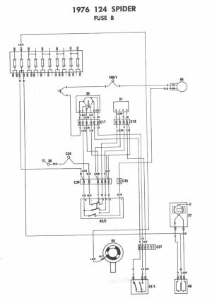 1976 Fiat Spider Wiring Diagrams