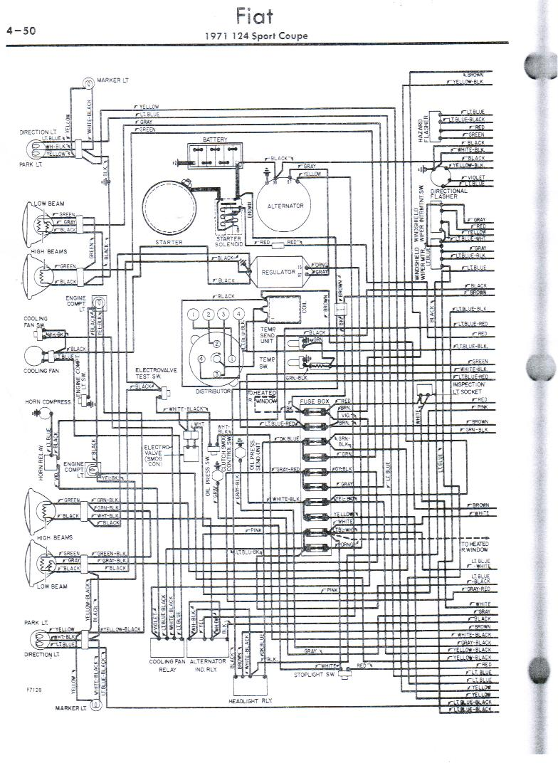 Fiat 124 Wiring Diagram Gm Alternator To Generator Wiring