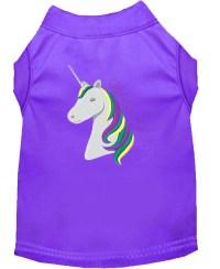 Unicorns Rock Embroidered Dog Shirt Purple XL (16)
