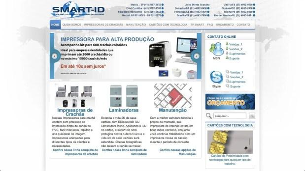 Site otimizado para Smart ID