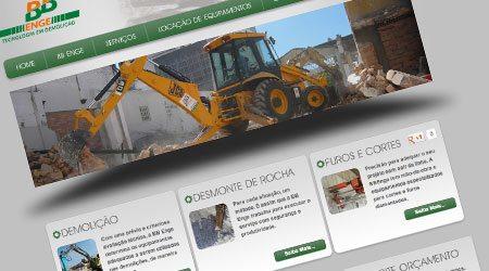 Criação de site para a Demolidora BB Enge