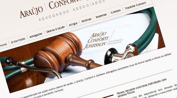 Criação de site para Escritório de Advocacia Araújo Conforti e Jonhsson