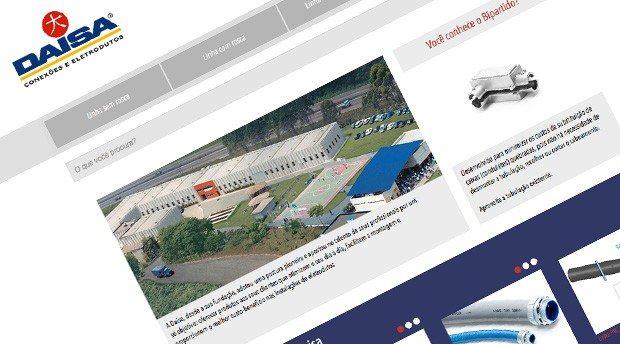 Desenvolvimento de site responsivo para Daisa