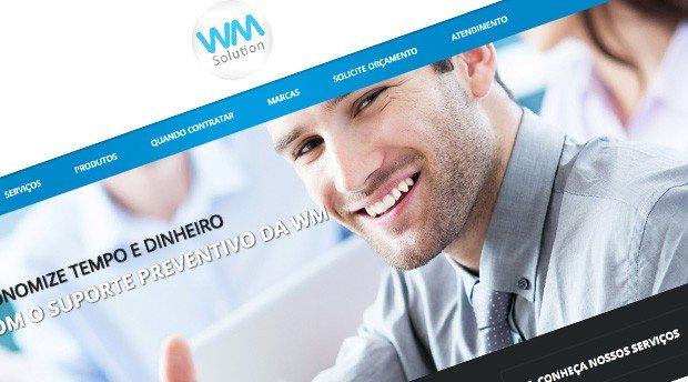 Desenvolvimento de site para WM Solution