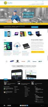 Novo site responsivo da Skytec