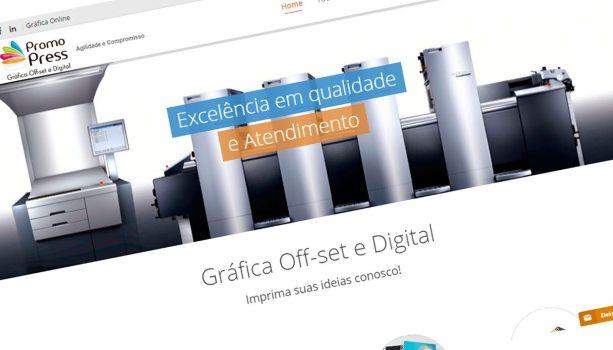 Criação de site para Gráfica Promopress