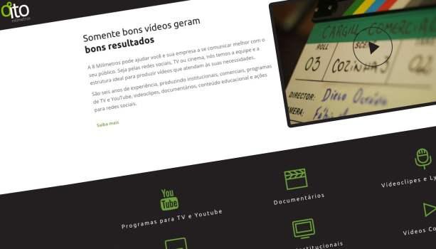 Criação de site otimizado para Produtora de Vídeo