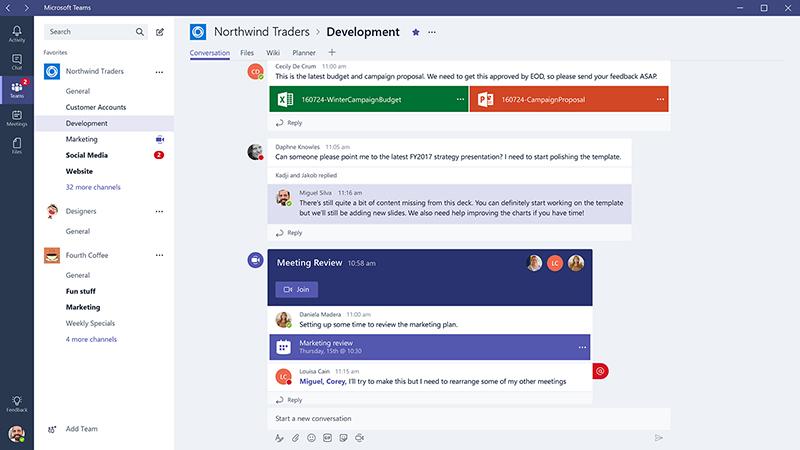 Microsoft Teams: platform for samarbejde, fildeling, opkald og videomøder