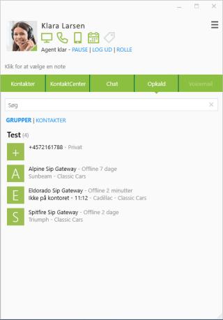 Foretag, modtag og omstil opkald i Miralix Desktop - vores KontaktCenter-klient Kontorbruger