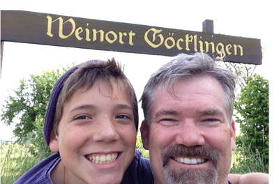 Keith Flitner and Son at Gocklingen
