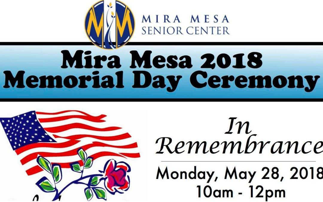 Memorial Day Program at the Mira Mesa Senior Center