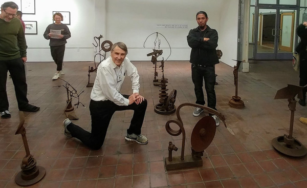 Antique Iron Sculpture Exhibit by Mira Mesa Artist
