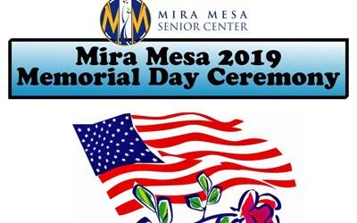 Memorial Day Ceremony at Mira Mesa Senior Center