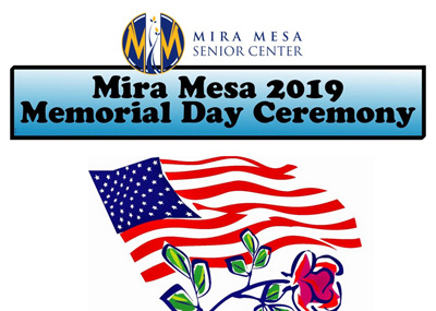 Memorial Day Ceremony at Mira Mesa Senior Center