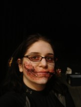 sfx makeup, special effects make up, horror, gore, trauma, wounds, prosthetic, silicone, chelsea smile, blood