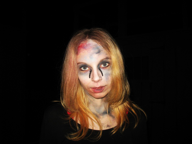 sfx makeup, special effects make up, horror, gore, trauma, wounds, black oil from x-files, airbrush